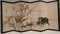 Oxen and herdboys. Edo period, 1760s.
